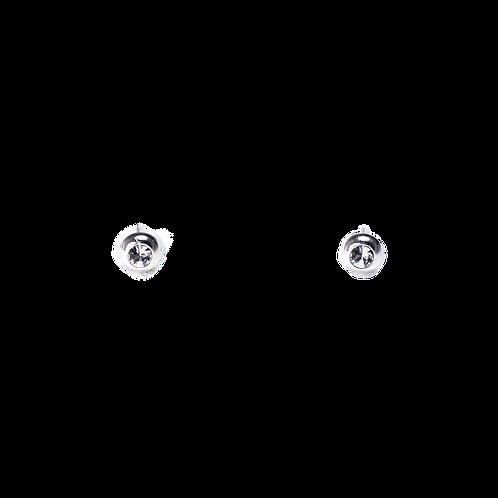 Silberohrstecker rund mit Swarovskisteinen