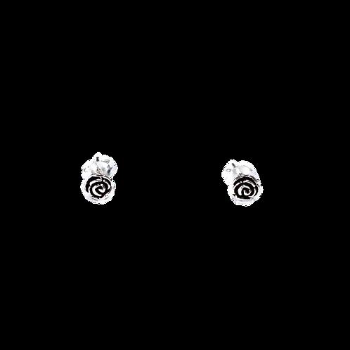 Silberohrstecker Rose