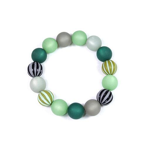 Armband Wasserballperle dunkelgrün