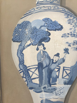 panel chinese vase