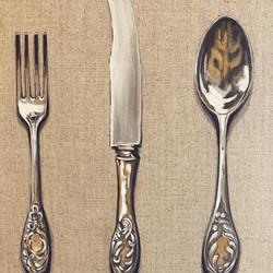 still life cutlery