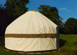 12ft yurt. White and olive outer cov