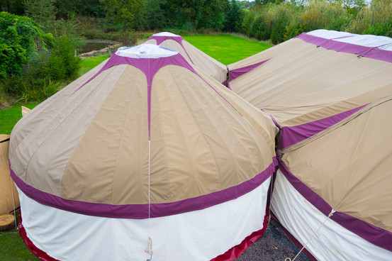 conjoined yurts