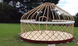 Beautiful yurt frame on deck