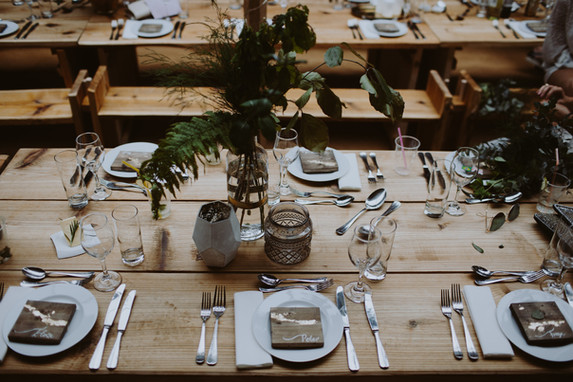Wooden tables & benches