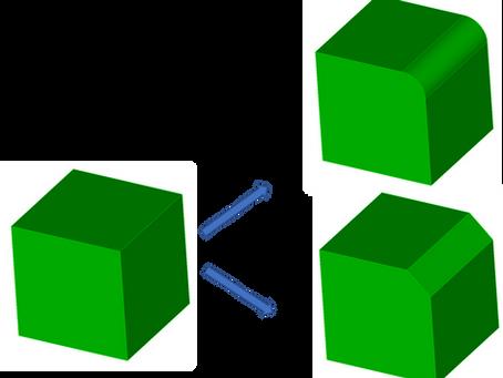 Coreform Cubit 예제 6 - Cubit에서 모따기 기능 사용하기