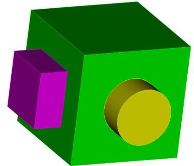 Coreform Cubit 예제 9 - Volume간 공유면 만들기 및 합치기