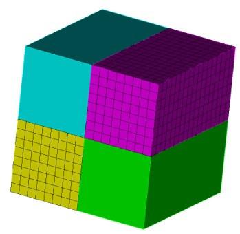 Coreform Cubit 예제 4 - 격자가 생성되지 않은 Volume 표시하기