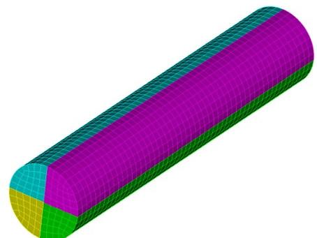 Coreform Cubit 예제 1 - 분할된 Surface를 생성하여 하나의 CFD 경계 조건으로 설정하기