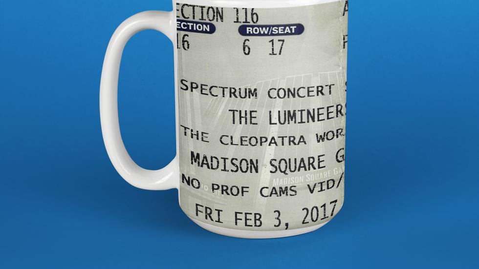 The Lumineers Concert Ticket Stub Mug 11oz
