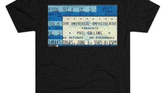 Phil Collins Concert Ticket Men's Tri-Blend Crew Tee