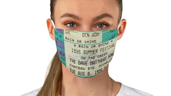 Dave Matthews 1995 Concert Ticket Face Mask