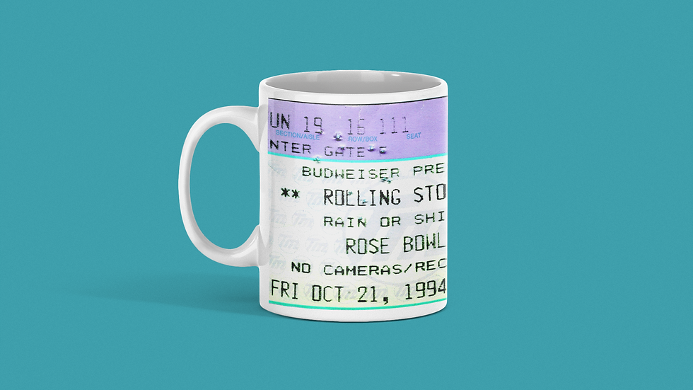Rolling Stones Concert Ticket Mug