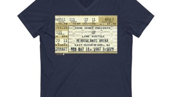 U2 Concert Ticket Unisex Jersey V-Neck Tee