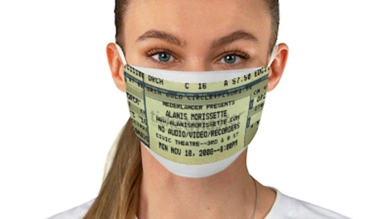 Alanis Morisette Concert Ticket Face Mask
