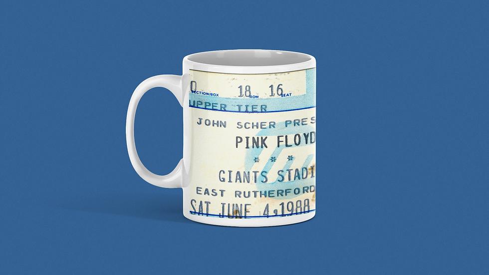 Pink Floyd Concert Ticket Mug