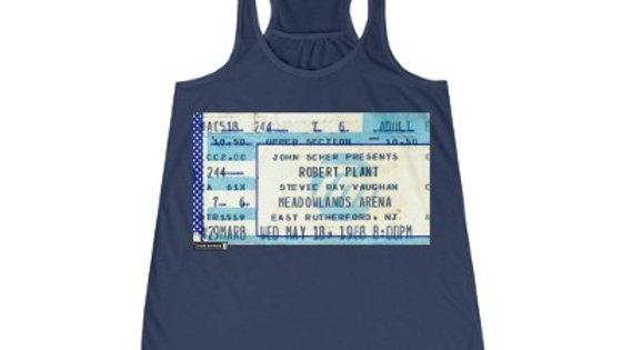 Robert Plant Concert Women's Flowy Racerback Tank