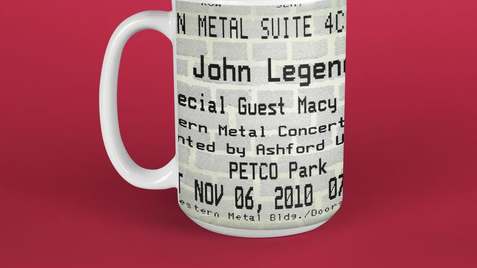 John Legend with Macy Gray Concert Ticket Stub Mug 11oz