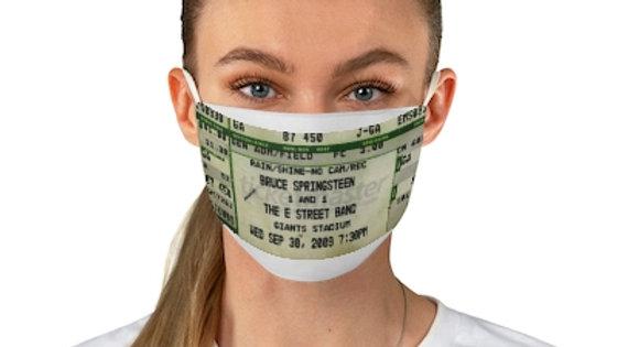 Bruce Springsteen  2009 Concert Ticket Face Mask