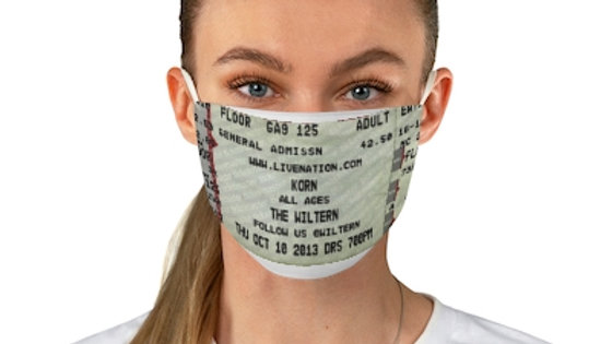 Korn Concert Ticket Face Mask