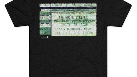 The White Stripes Concert Men's Tri-Blend Crew Tee