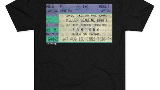 Santana Concert Men's Tri-Blend Crew Tee