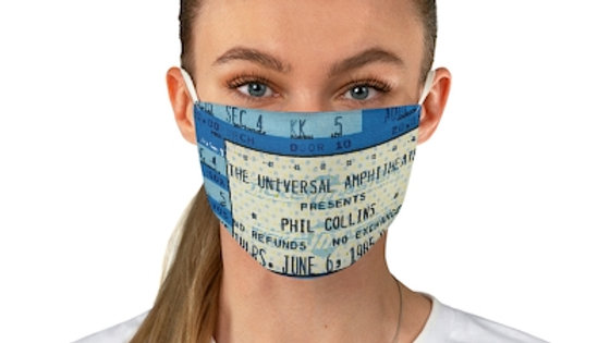 Phil Collins Concert Ticket Face Mask