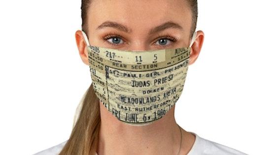 Judas Priest 1986 Concert Ticket Face Mask