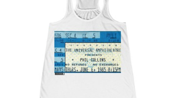 Phil Collins Concert Women's Flowy Racerback Tank