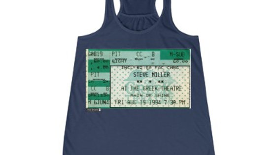 Steve Miller Concert 1994 Women's Flowy Racerback Tank