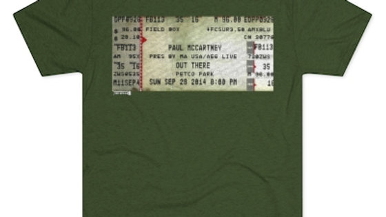 Paul McCartney Concert Men's Tri-Blend Crew Tee