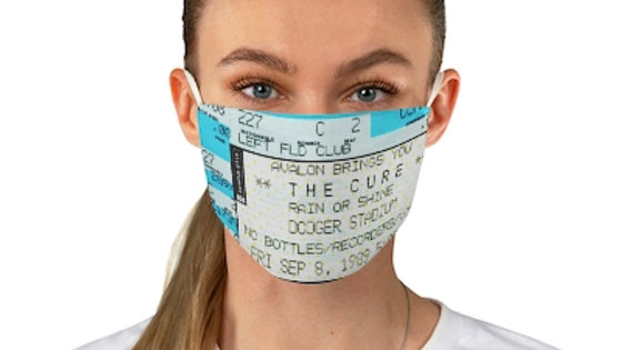 The Cure Concert Ticket Face Mask