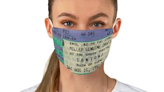 Santana Concert Ticket Face Mask