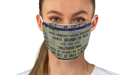 Thirty Seconds To Mars Concert Ticket Face Mask