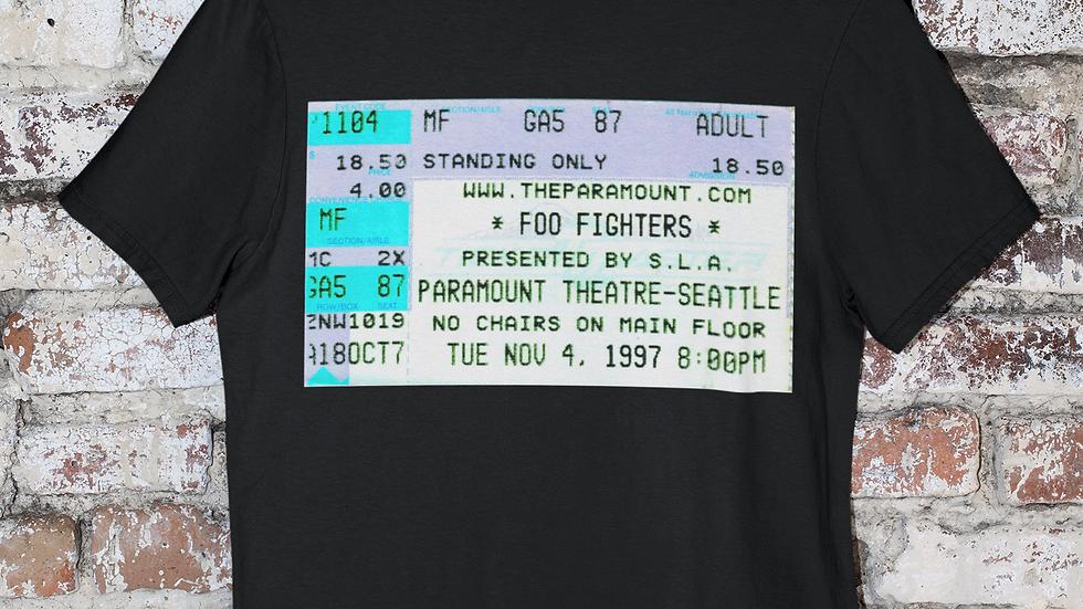 Foo Fighters Crew Mens Tri Blend Tee