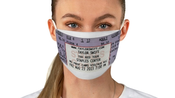 Taylor Swift Concert Ticket Face Mask