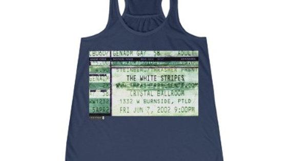 The White Stripes Concert Women's Flowy Racerback Tank