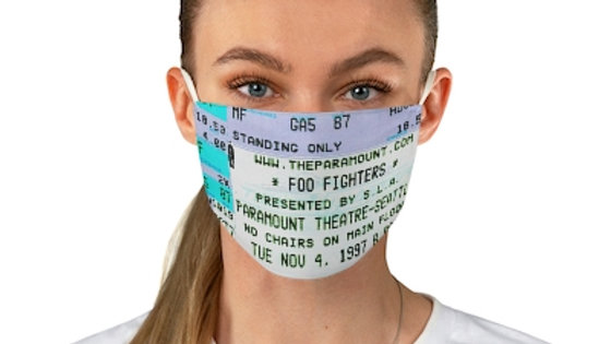 Foo Fighters Concert Ticket Face Mask