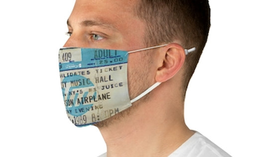 Jefferson Airplane Concert Ticket Face Mask