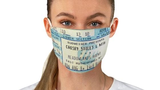 Crosby, Stills and Nash Concert Ticket Face Mask