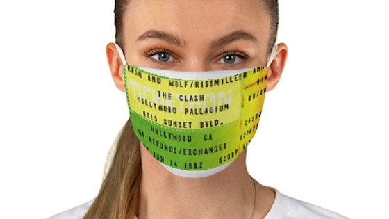 The Clash Concert Ticket Face Mask