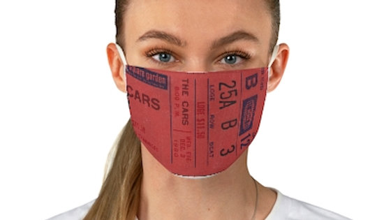 The Cars Concert Ticket Face Mask