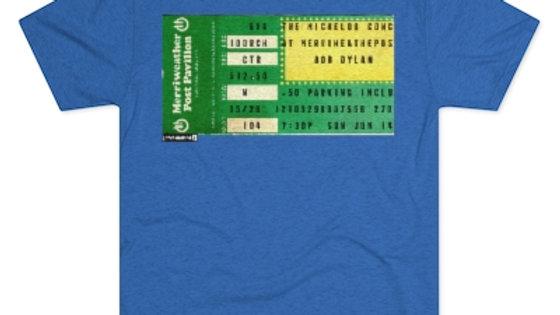 Bob Dylan Concert Ticket Men's Tri-Blend Crew Tee