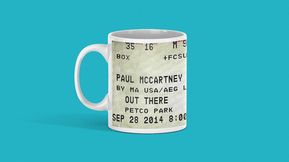Paul McCartney Concert Ticket Mug