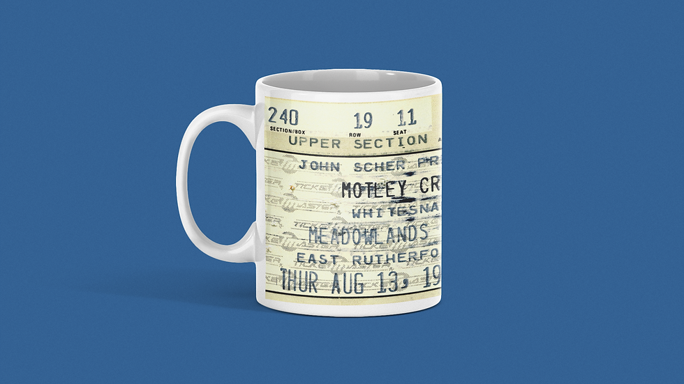 Motley Crue Ceramic Mug 11oz