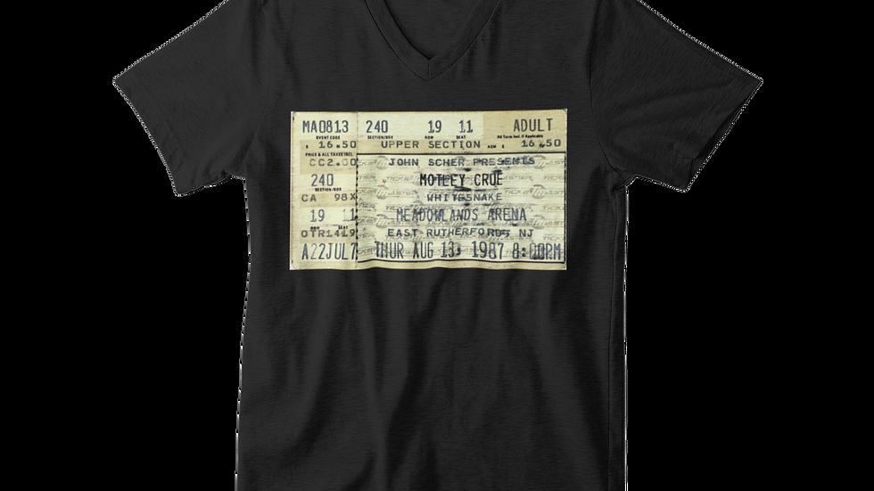 Motley Crue Concert Unisex Jersey V-Neck Tee