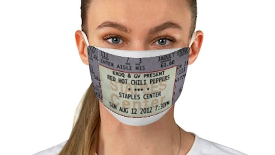 Red Hot Chili Peppers Ticket Face Mask