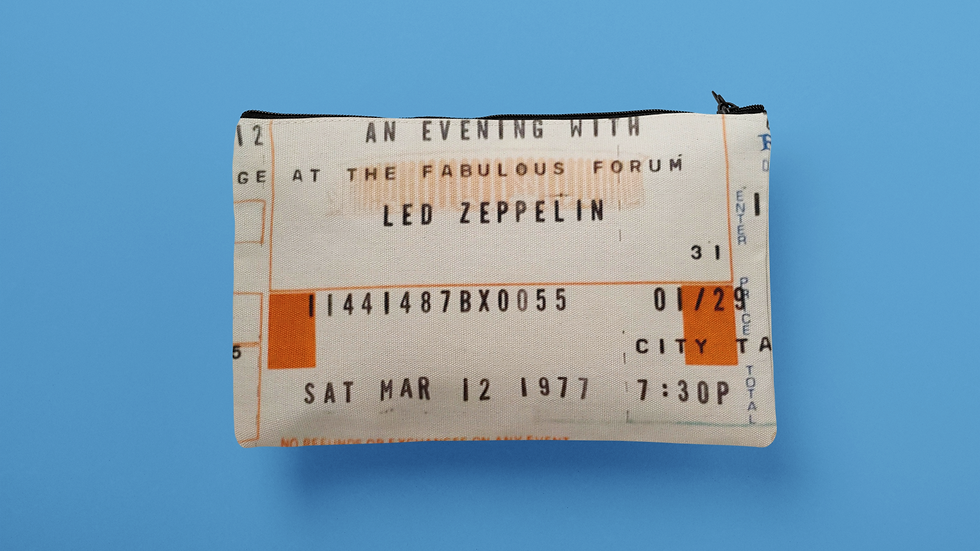 Led Zeppelin 1977 Accessory Pouch
