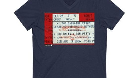 Bob Dylan / Tom Petty Concert Unisex Jersey V-Neck Te