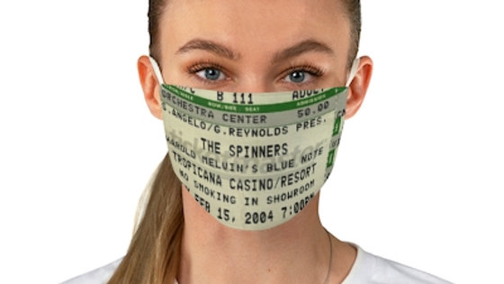 The Spinners Concert Stub Fabric Face Mask